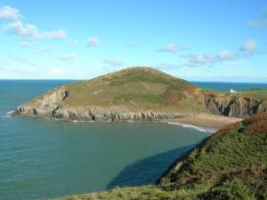 Mwnt Beach in Ceredigion, West Wales